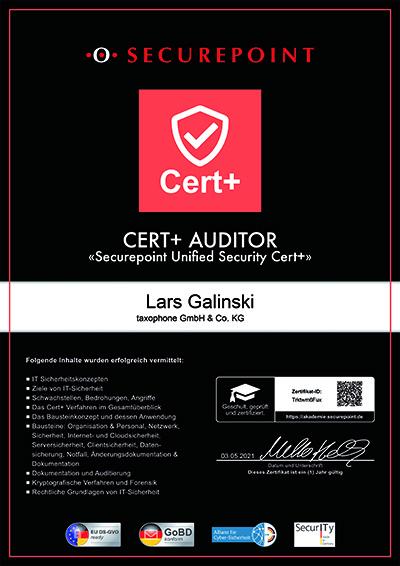 Zertifikat herunterladen
